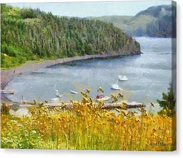 Overlooking The Harbor Canvas Print by Jeffrey Kolker