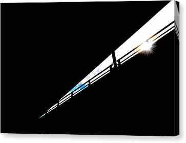 Overpass At Sunset Canvas Print