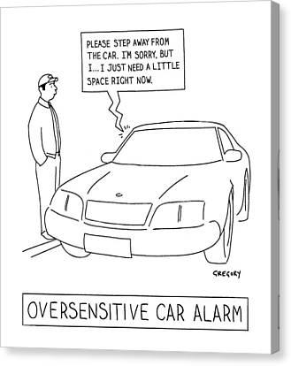 'oversensitive Car Alarm' Canvas Print by Alex Gregory