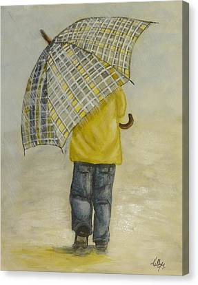 Oversized Umbrella Canvas Print by Kelly Mills