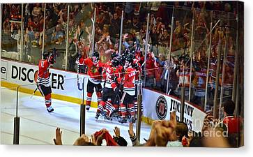 Canvas Print featuring the photograph Overtime Game Winner by Melissa Goodrich