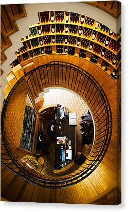 Overview Of The Lintendant Wine Shop Canvas Print by Panoramic Images