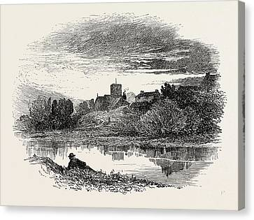 Ovingham, Is A Civil Parish And Village In The Tyne Valley Canvas Print by English School