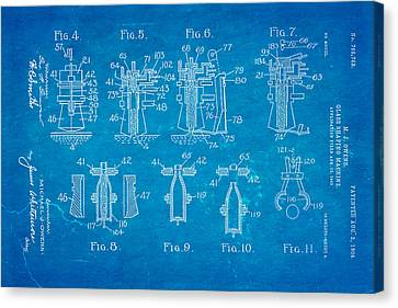 Owens Glass Shaping Machine Patent Art 1904 Blueprint Canvas Print by Ian Monk