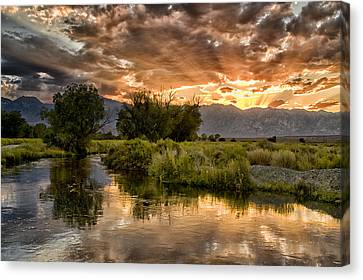 Owens River Sunset Canvas Print