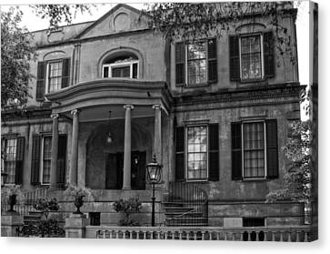 Owens - Thomas House In Black And White Canvas Print