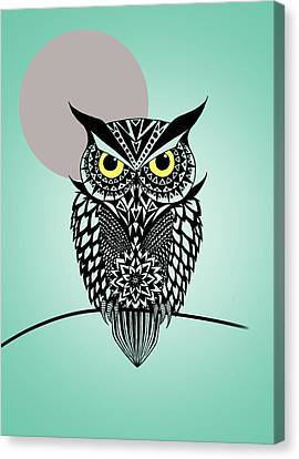 Graphic Canvas Print - Owl 5 by Mark Ashkenazi