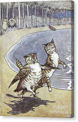 Owl And The Pussycat Canvas Print by Granger