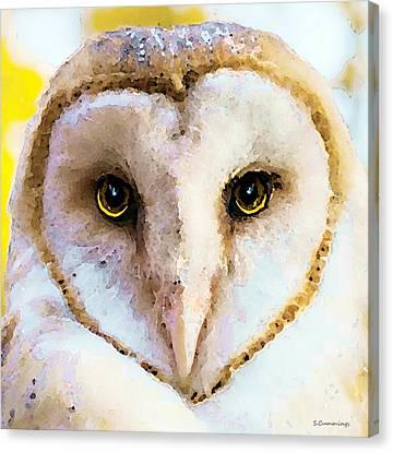 Owl Art - Soft Love Canvas Print by Sharon Cummings