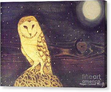 Owl At Midnight Canvas Print