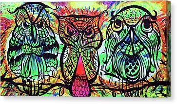 Owl B Watching Canvas Print by Lorinda Fore and Tony Lima