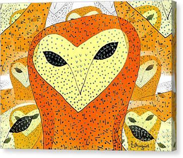 owl Canvas Print by Barbara Moignard
