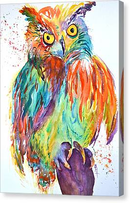 Owl Be Seeing You Canvas Print by Beverley Harper Tinsley