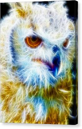 Owl - Filter Effect Manipulation Canvas Print by Gina Lee Manley