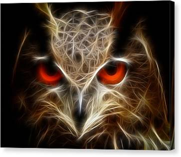 Owl - Fractal Artwork Canvas Print by Lilia D
