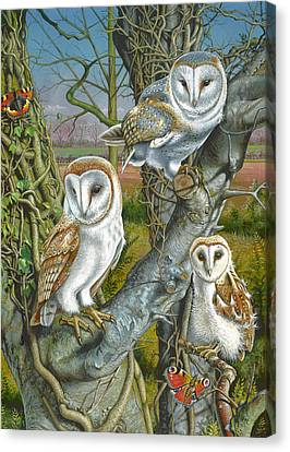 Owl Gathering Canvas Print