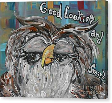 Owl - Goodlooking And Smart Canvas Print