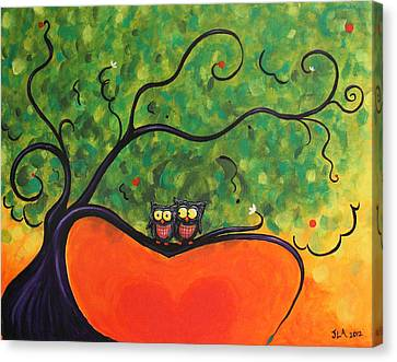 Owl Love You Canvas Print by Jennifer Alvarez