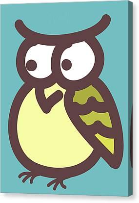 owl Canvas Print by Nursery Art