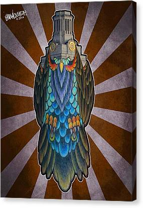 Owl Of The Tower Canvas Print