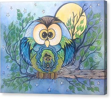 Owl Take Care Of You Canvas Print by Meldra Driscoll