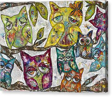 Owl Together Canvas Print by Kirsten Reed
