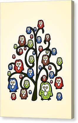 Owl Tree Canvas Print by Anastasiya Malakhova