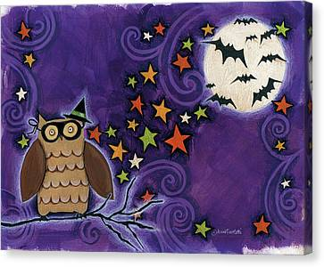 Owl With Mask Canvas Print