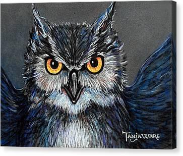 Owlish Canvas Print by Tanja Ware