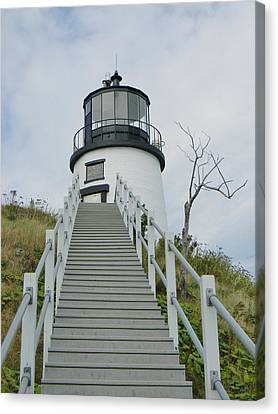 Canvas Print featuring the photograph Owls Head Lighthouse by Jean Goodwin Brooks