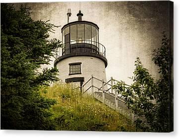Owls Head Lighthouse Canvas Print by Joan Carroll