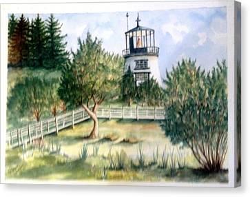 Owls Head Maine Lighthouse Canvas Print by Richard Benson