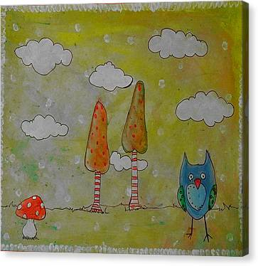 Owlville Canvas Print by Melissa Osborne