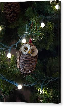 Canvas Print featuring the photograph Owly Christmas by Patricia Babbitt