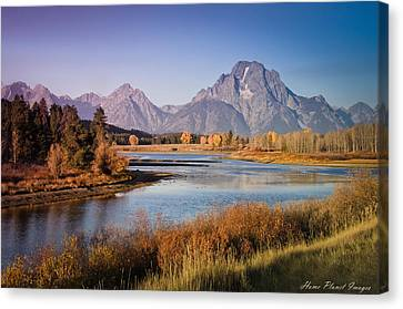 Canvas Print featuring the photograph Oxbow Bend by Janis Knight