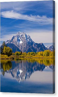Oxbow Bend Canvas Print by Mark Kiver