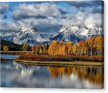 Oxbow Morning Canvas Print by Kathleen Bishop