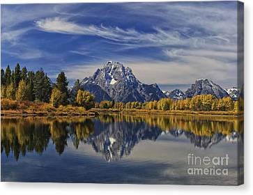 Oxbow Reflections Canvas Print by Mark Kiver