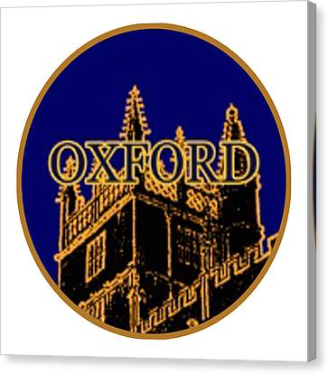 Oxford 1986 Art2579oa Jgibney The Museum Zazzle Gifts Canvas Print by The MUSEUM Artist Series jGibney