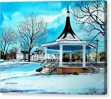 Scott Nelson Canvas Print - Oxford Bandstand by Scott Nelson