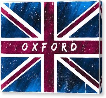 Oxford Distressed Union Jack Flag Canvas Print by Mark E Tisdale