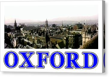 Oxford Snapshot Panorama Rooftops 2 Jgibney The Museum Zazzle Gifts Canvas Print by The MUSEUM Artist Series jGibney