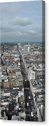 Oxford Street Vertical Canvas Print by Matt Malloy