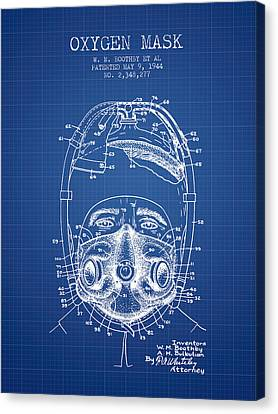 Oxygen Mask Patent From 1944 - One - Blueprint Canvas Print