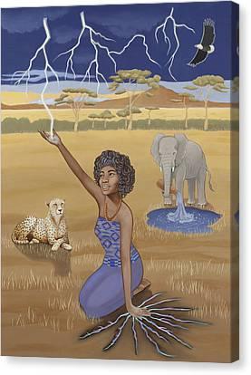 'aquarius / Oya' Canvas Print