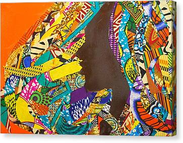 Canvas Print featuring the tapestry - textile Oya I by Apanaki Temitayo M