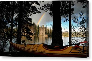 Oyama Lake - Kayaking Canvas Print by Guy Hoffman