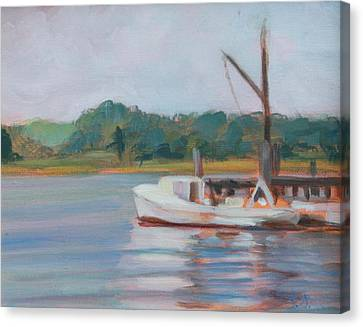 Oyster Boat On The Chesapeake Canvas Print