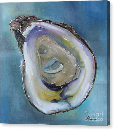 Oyster On The Half Shell Canvas Print by Kristine Kainer