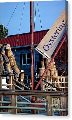 Oystering History At The Maritime Museum In Saint Michaels Maryland Canvas Print